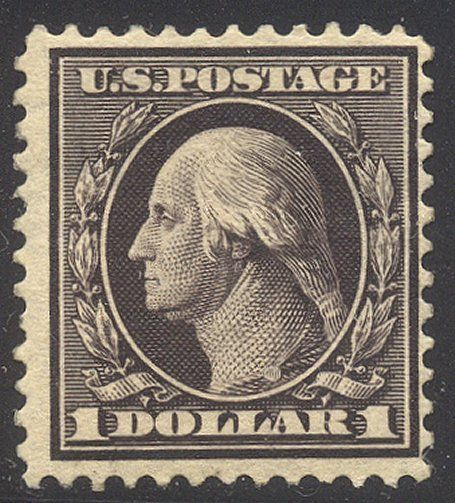 U.S. #342 SCARCE Mint NH - $1.00 Violet Brown ($1,100)