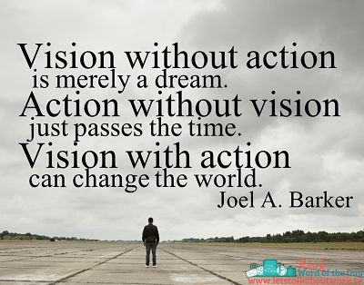 vision without action Joel Google Search Quotes to