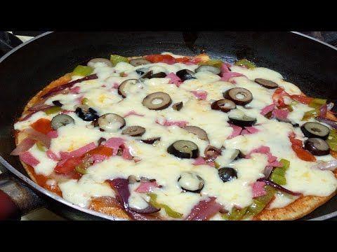 بيتزا ف5دقايق بدون عجن وبدون فرن البيتزا السائله فالمقلاه الذ عشا فدقائق رروعه Youtube Recipes Food Cooking
