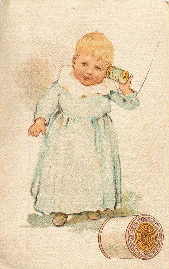J P Coats' Best Six Cord Thread Trade Card Child Playing with Spool | eBay
