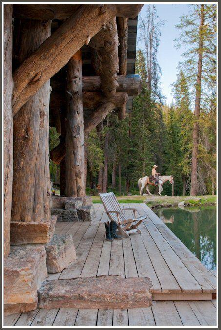 Rustic porch in Montana