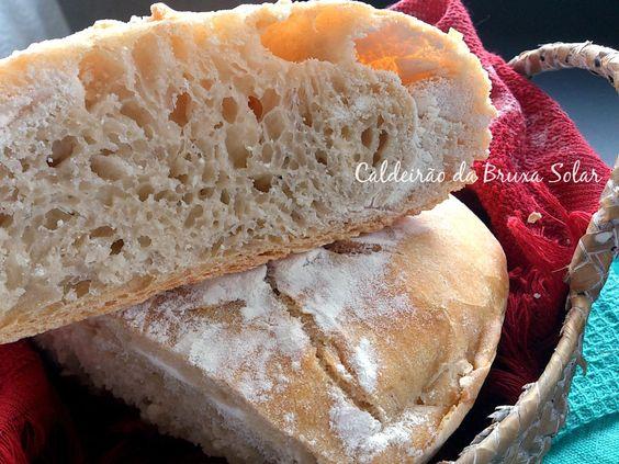 No knead bread. http://www.caldeiraodabruxasolar.com/2014/02/pao-rustico-sem-sova-de-panela.html