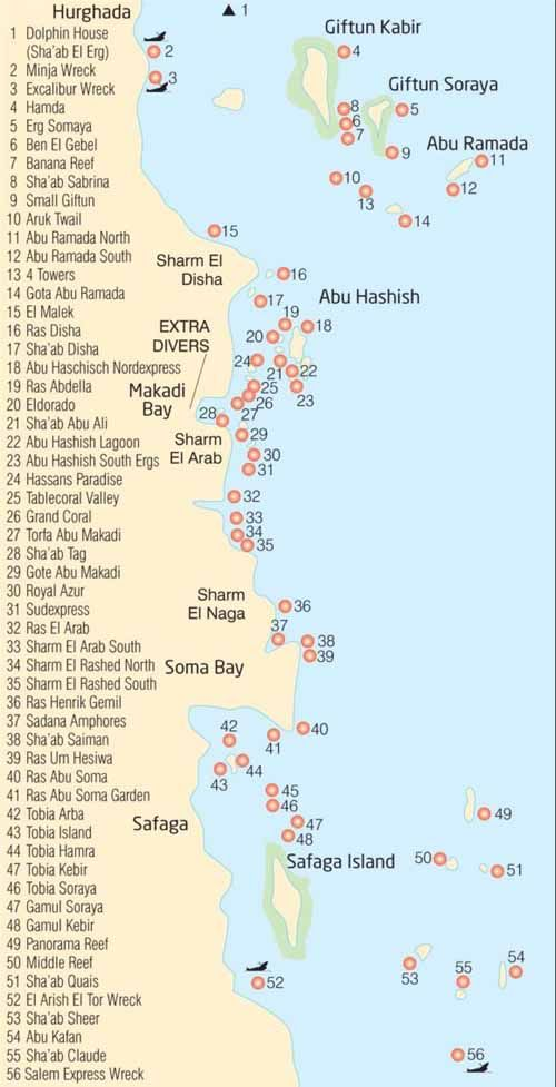 Dolphin House Shaab Samadai Reef Dive Site Map Review Of - Map of egypt marsa alam