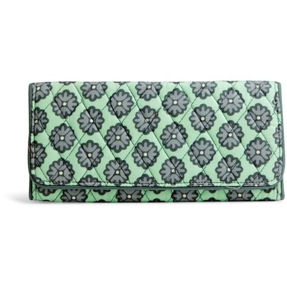 Vera Bradley Trifold Wallet in Nomadic Blossoms ($42) ❤ liked on Polyvore featuring bags, wallets, nomadic blossoms, vera bradley tote bags, credit card holder wallet, handbags totes, tote handbags and zippered tote