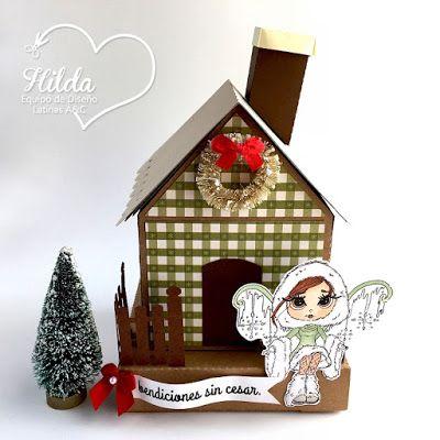 Hilda Designs: Reto #49 en LA&C: Casitas de Navidad