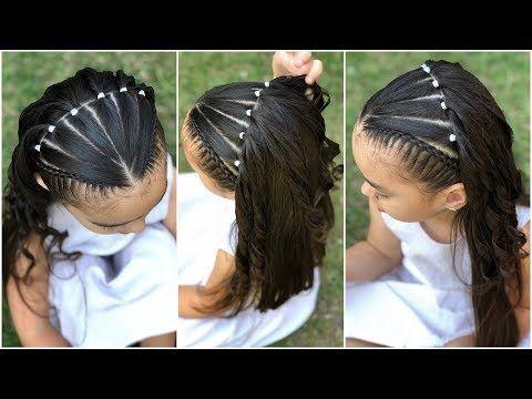 Peinado Para Ninas Trenzas Diagonales Con Ligas Colaboracion Con
