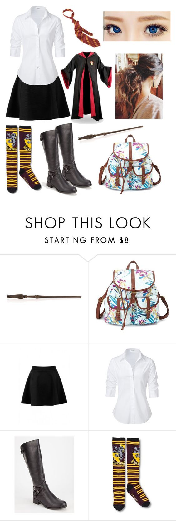 """""""The Jewel of His Life: Hogwarts Uniforms"""" by capeles on Polyvore featuring beauty, Charlotte Russe, Steffen Schraut and Soda"""