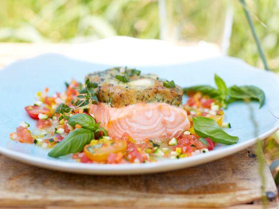 Ofenfisch - ein heißer Fang! - lachs-mit-frischkaesekruste  Rezept