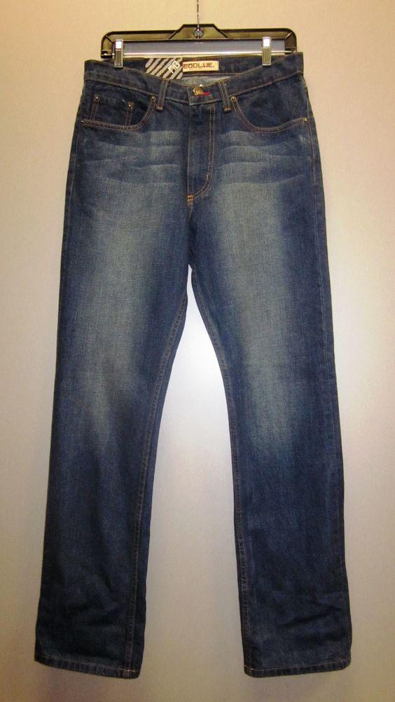 NEOBLUE Slim fit Jeans Fade medium blue 100% cotton Sizes 30-40 $32.99