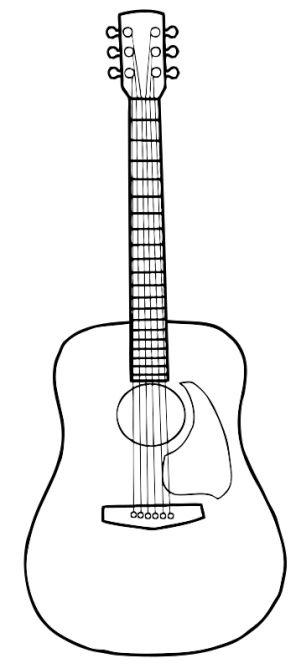 Acoustic Guitar Drawing Doodles Sketches