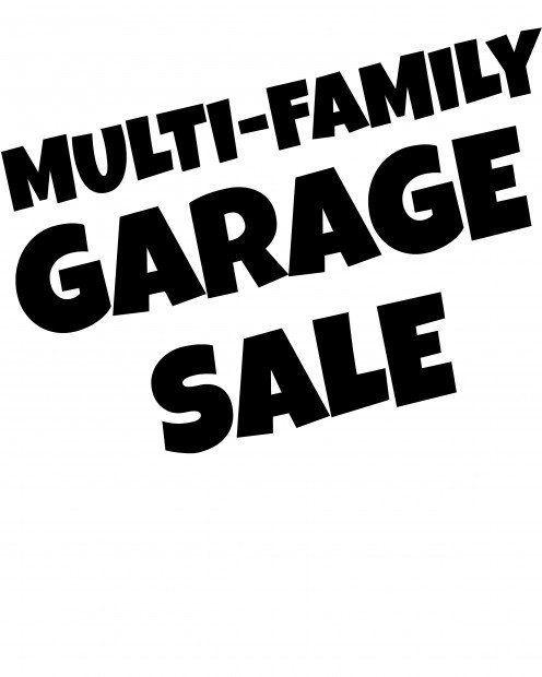Multi Family Garage Sale Garage Multifamily Sale In 2020 Garage Sale Signs For Sale Sign Garage Sale Printables