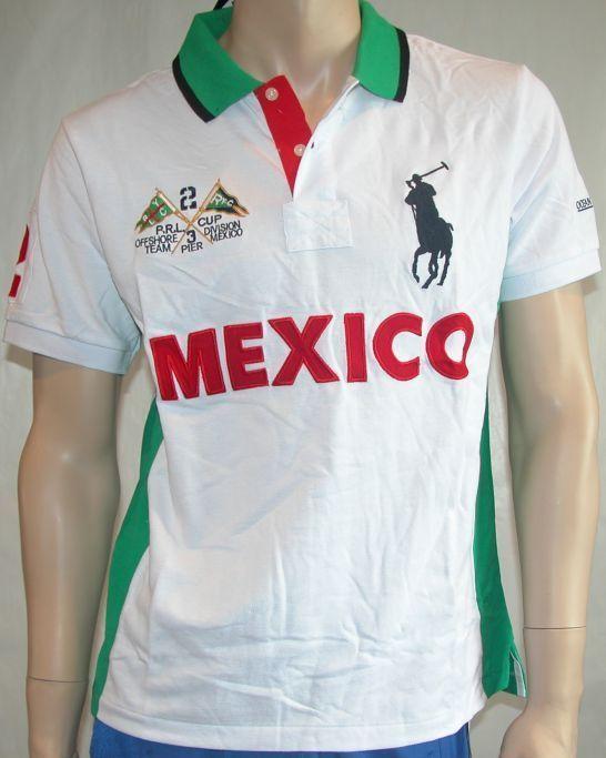 New Mens Ralph Lauren Big Pony Polo Shirt Mexico Size Medium Ralphlaurenpolo Polorugby