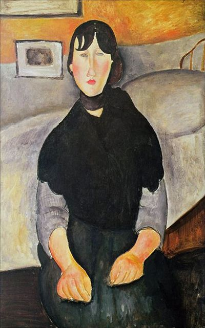 Modigliani, Young Woman of the People (1918).
