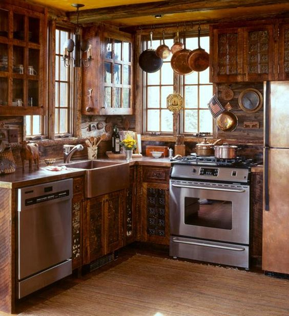 rustic cottage kitchen ideas copper cabinet doors and cabinets on 4966