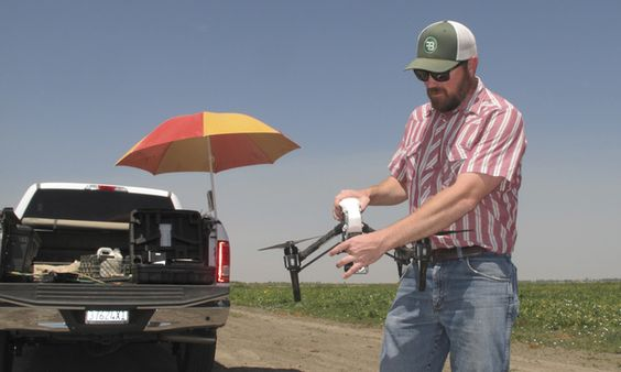 In drought, drones help California farmers save every drop ***interesting because Monsanto can seize (farm) land from people if their seeds are found on it