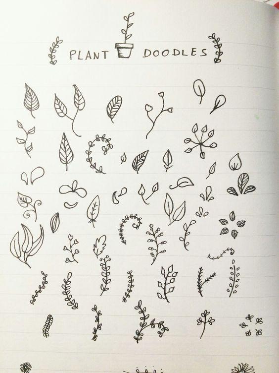 Ideas Doodles Water Journals Doodle Plants Bullet Journal