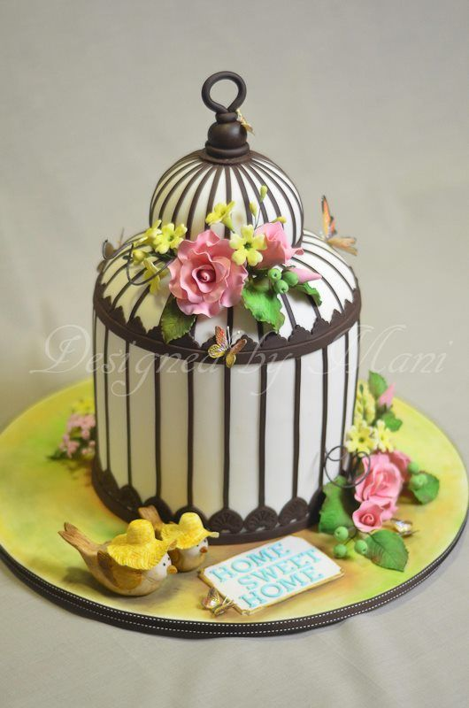Bird Cage Cake by Cake Appreciation Society Member Designed by Mani - See VIC Directory Listing at www.cakeappreciationsociety.com