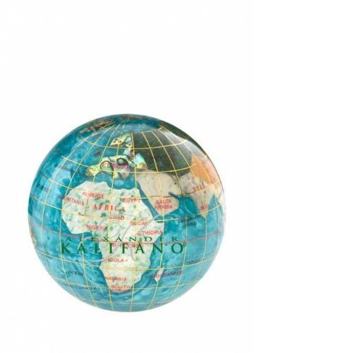 Kalifano 3-in. Gemstone Globe Paperweight $39.58 (27% OFF)