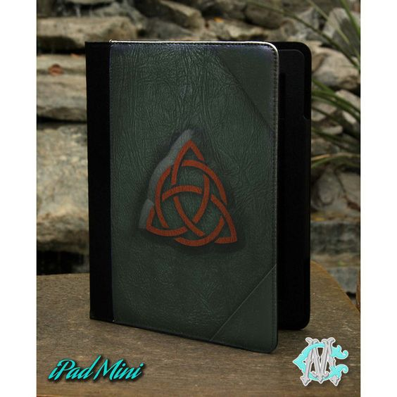 Charmed Book Of Shadows Leather Case ($30) ❤ liked on Polyvore featuring accessories and tech accessories