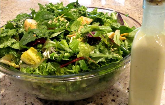 Green salad, a recipe from Gaia's Table, an upcoming SpiderHawk cookbook
