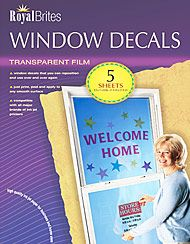 Make your own Window clings for holidays, school, etc. with your ink-jet printer. $14.99 for 5 sheets.