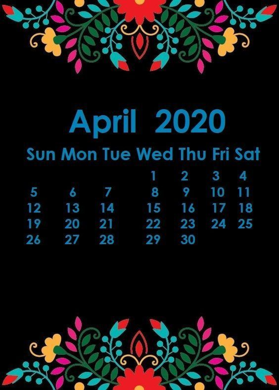 April 2020 Calendar Wallpaper Desktop And Iphone In 2020