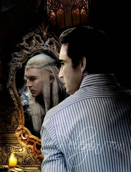 Lee Pace as Thranduil - the mirror never lies.