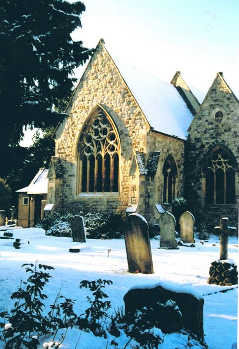 Old church in Hertford, UK