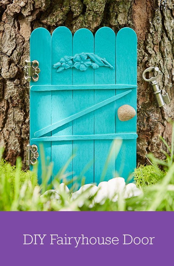 Diy fairy house fairy houses and fairies on pinterest for Make fairy door craft