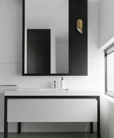 Monochrome bathroom mim design little group office for Monochromatic bathroom designs