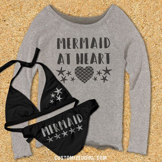 We all know that you are a mermaid at heart. Most girls are. What's better than being a mermaid? You get to swim in the ocean all day long, and have guys try to date you. Sounds like the dream life to me. This pullover is perfect for the days at the beach when you get out of the water and it's a little chilly.