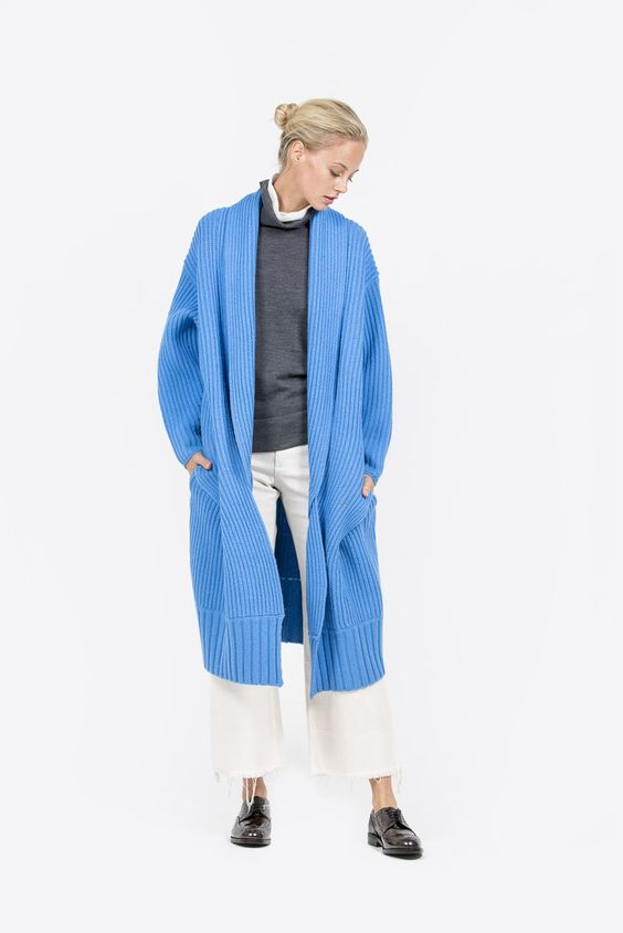 Big Cable Knit Coat by Sayaka Davis @ Kick Pleat - 1