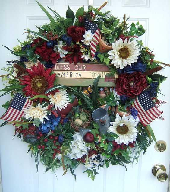 memorial day door wreath