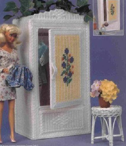 labores de esther. todo para barbie: Armario para barbie en plasticcanvas