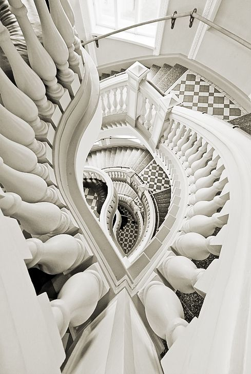 Staircase by Jukka Björn Intriguing but beautiful designed staircase: