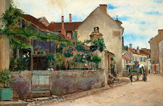 Hjalmar Sandberg (1847-1888): Motiv från Vichy