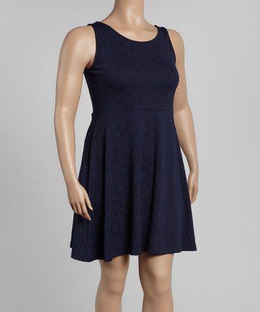 Another great find on #zulily! Navy Blue Sleeveless Dress - Plus #zulilyfinds