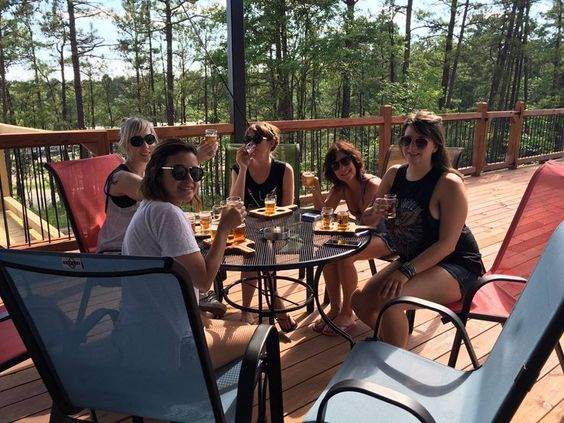 Enjoy A Cold One Out On The Patio Deck At Beavers Bend Brewery In - Out on the patio