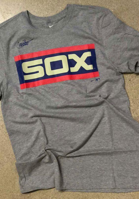 Nike Chicago White Sox Grey Coop Wordmark Short Sleeve T Shirt 17320678 Chicago Shirts Shirts White Sock