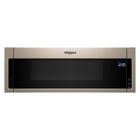 Whirlpool Low Profile Microwave Hood Combination 1 1 Cu Ft Over The Range Microwave With Sensor Cooking Fingerprint Resistant Sunset Bronze Lowes Com Range Microwave Microwave Hood Microwave