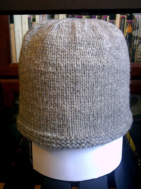 Knitted Hats Patterns Easy : Todds No Purl Hat, free pattern on Ravelry knit in Cascade Yarns Eco Woo...