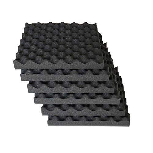 6 Pack Egg Crate Foam Acoustic Foam Tiles Soundproofing Foam Panels Sound Insulation Soundproof Foam Padding Sound Proofing Soundproof Room Sound Proofing Door