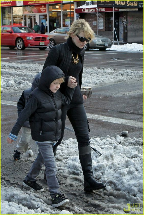 Cate Blanchett and her son
