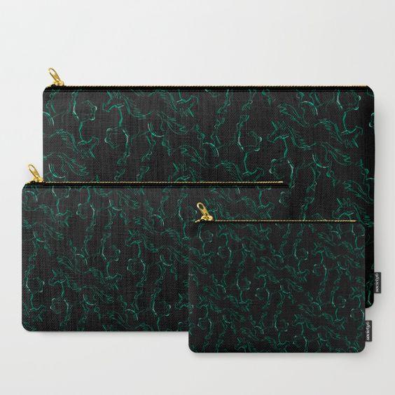 Aqua,Line, Unicorn, pattern, green