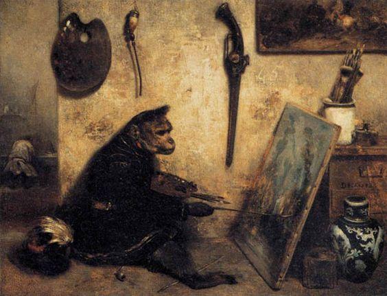 Alexandre Gabriel Decamps: The Monkey Painter