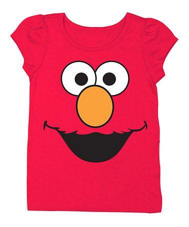 Another great find on #zulily! Sesame Street Elmo Face Tee - Toddler & Girls #zulilyfinds