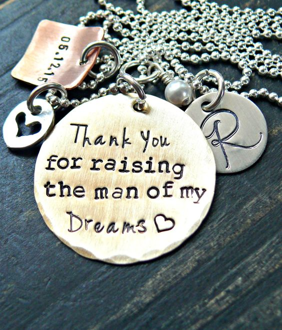 Thank you for raising the man of my dreams Multipule Charms Gift For Mother In Law by yourcharmedlife on Etsy