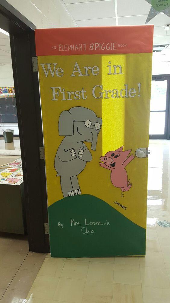 Elephant Classroom Decor ~ Mo willems elephant and piggie door week