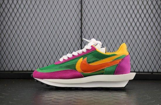 2020 的 Sacai x Nike LDV Waffle Green Pink Yellow BV0073 301
