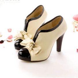 Livraison Immédiate Chaussures À Talons Bottines Botte Boot Femme Mariage Soirée Escarpins À Talons En Pu Avec Plate-Forme